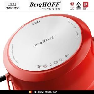 GEM Red Антипригарный сотейник для любых плит, 4.6 л, D 28 см, BergHOFF, арт. 92950, фото 10