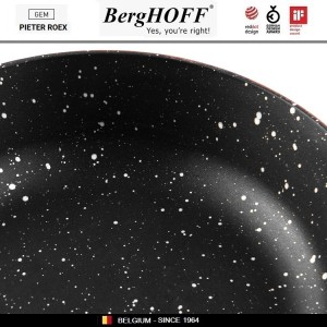 GEM Red Антипригарный сотейник для любых плит, 4.6 л, D 28 см, BergHOFF, арт. 92950, фото 11