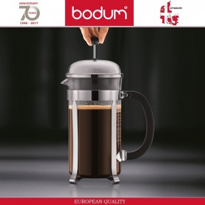 Френч-пресс CHAMBORD Classic для кофе и чая, 1000 мл, цвет белый, BODUM, арт. 87660, фото 5