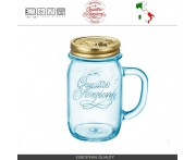 Банка для напитков Quattro Stagioni (без крышки), 415 мл, D 8,5 см, голубая, Bormioli Rocco, Италия