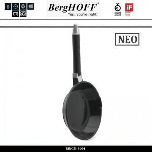 Антиприагрная сковорода NEO со съемной ручкой для плиты и духовки, D 20 см, индукционное дно, BergHOFF, арт. 73726, фото 4