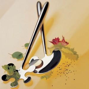 Набор для салата: ложка вилка, на подставке, дерево/сталь, серия Lola, CASA BUGATTI, Италия, арт. 366, фото 2