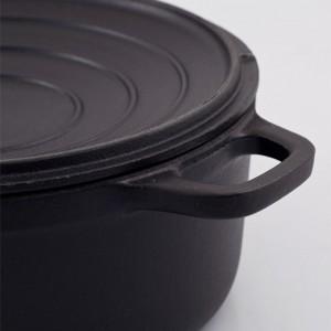 Кастрюля чугунная, черная эмаль, 3.8 л, D 24 см, серия BLACK, CHASSEUR, Франция , арт. 444, фото 4