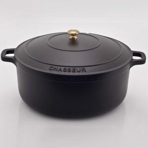 Кастрюля чугунная, черная эмаль, 6.4 л, D 28 см, серия BLACK, CHASSEUR, Франция , арт. 445, фото 2