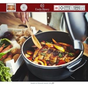 DELIGHT Кастрюля керамическая для духовки и любых плит, индукционное дно, 4 л, D 26.5 см, Emile Henry, арт. 91054, фото 3