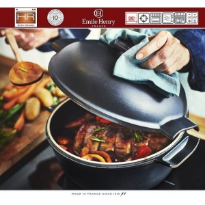 DELIGHT Кастрюля керамическая для духовки и любых плит, индукционное дно, 2.5 л, D 22 см, Emile Henry, арт. 91053, фото 9