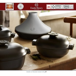 DELIGHT Тажин керамический для духовки и любых плит, индукционное дно, 4 л, D 33 см, Emile Henry, арт. 91057, фото 7