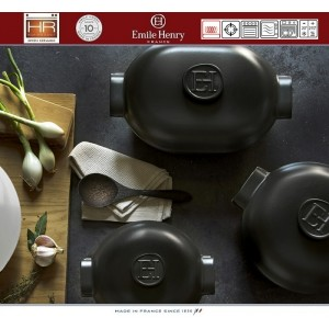 DELIGHT Кастрюля-жаровня керамическая для духовки и любых плит, индукционное дно, 4.5 л, L 36 см, Emile Henry, арт. 91056, фото 9