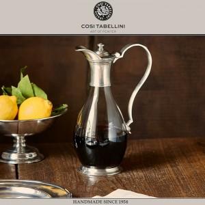 Графин VELLETRI для выдержанного вина, 1 литр, олово, стекло, ручная работа, Cosi Tabellini, Италия, арт. 24598, фото 2