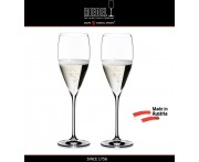 Бокалы для шампанского Champagne Glass, 2 шт, 343 мл, машинная выдувка, VINUM XL, RIEDEL