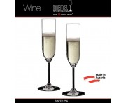 Бокалы для шампанского Champagne Glass, 2 шт, 160 мл, машинная выдувка, WINE, RIEDEL