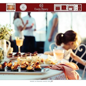 Aperitivo Блюдо для запекания и подачи, 23 x 10 см, керамика, цвет розовый, Emile Henry, арт. 90820, фото 12