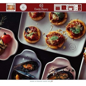 Aperitivo Блюдо для запекания и подачи, 23 x 10 см, керамика, цвет серый, Emile Henry, арт. 90822, фото 3