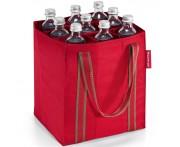 Сумка-органайзер для бутылок bottlebag red stripes, на 9 бутылок, Reisenthel, Германия