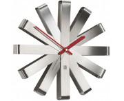 Часы настенные Ribbon сталь, D 30,5 см, Umbra, Канада