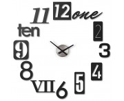 Часы настенные numbra черные, L 34 см, W 7,6 см, H 34 см, Umbra, Канада
