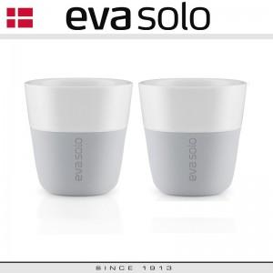 EVA Кофейные стаканы для эспрессо, 2 шт по 80 мл, светло-серые, фарфор, силиконовый ободок Eva Solo, Дания, арт. 76984, фото 4