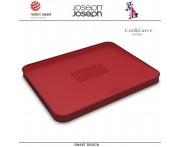Доска двухсторонняя разделочная Cut and Carve Plus, красный, Joseph Joseph, Великобритания