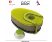 Губки Soapy (3 шт) с капсулой для моющего средства, зеленый, Joseph Joseph, Великобритания