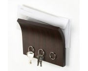 Держатель для ключей и писем magnetter эспрессо, L 18,8 см, W 1,7 см, H 20 см, Umbra, Канада