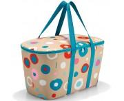 Корзина-Термосумка coolerbag funky dots 1, L 44,4 см, W 25 см, H 24,5 см, Reisenthel, Германия