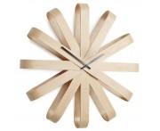 Часы настенные Ribbon дерево, D 30,5 см, Umbra, Канада