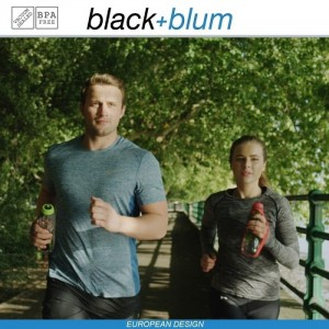 Eau Good DUO эко-бутылка для воды с клапаном для питья и угольным фильтром, 800 мл, серо-голубой, Black+Blum, арт. 90724, фото 8