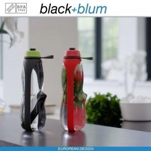 Eau Good DUO эко-бутылка для воды с клапаном для питья и угольным фильтром, 800 мл, серо-красный, Black+Blum, арт. 90725, фото 7