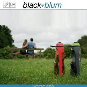 Eau Good DUO эко-бутылка для воды с клапаном для питья и угольным фильтром, 800 мл, серо-красный, Black+Blum, арт. 90725, фото 9