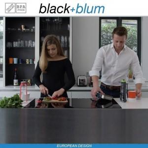 Eau Good DUO эко-бутылка для воды с клапаном для питья и угольным фильтром, 800 мл, серо-красный, Black+Blum, арт. 90725, фото 6