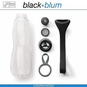 Eau Good DUO эко-бутылка для воды с клапаном для питья и угольным фильтром, 800 мл, серо-красный, Black+Blum, арт. 90725, фото 4