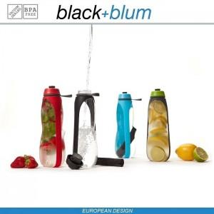 Eau Good DUO эко-бутылка для воды с клапаном для питья и угольным фильтром, 800 мл, черный, Black+Blum, арт. 90720, фото 11