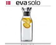 Графин Fridge для горячих и холодных напитков, 1 л, боросиликатное стекло, сталь, Eva Solo, Дания