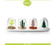 Ёмкости Four Seasons для специй, 4 баночки на подставке, Qualy