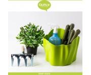 Емкость Flow многофункциональная, 26 x 26 см, H 20 см, пластик, зеленый, Qualy