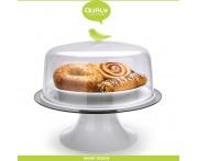 Подставка Sparrow для пирогов, тортов, десертов, D 30 см, зеленый, Qualy