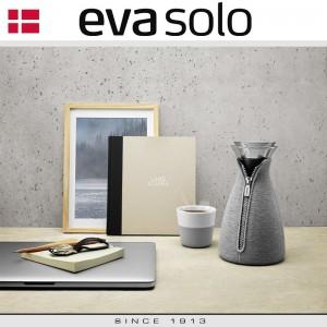 EVA Кофейные стаканы для латте, 2 шт 360 мл, светло-серые, фарфор, силиконовый ободок, Eva Solo, Дания, арт. 55913, фото 2