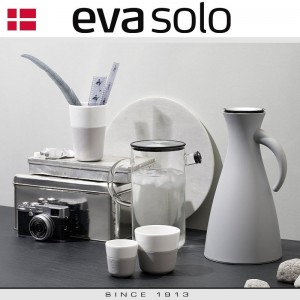 EVA Кофейные стаканы для лунго, 2 шт 230 мл, светло-серые, фарфор, силиконовый ободок, Eva Solo, Дания, арт. 55914, фото 2