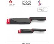 Набор ножей Slice and Sharpen с чехлами со встроенными ножеточками, лезвие с антипригарным покрытием, Joseph Joseph, Великобритания