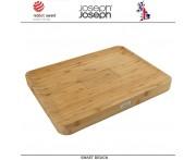 Большая доска Cut & Carve Bamboo, 45 х30 см, бамбук, Joseph Joseph, Великобритания