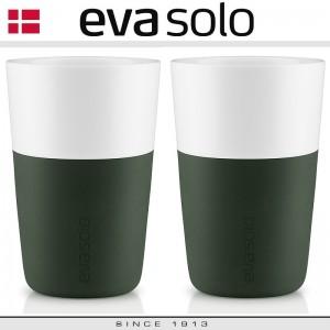 EVA Кофейные стаканы для латте, 2 шт 360 мл, темно-зеленые, фарфор, силиконовый ободок, Eva Solo, Дания, арт. 85039, фото 4