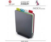 Набор разделочных досок Index Compact в кейсе графит, 5 предметов, Joseph Joseph, Великобритания