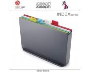 Набор разделочных досок INDEX 17 большой, 5 предметов, графит, Joseph Joseph, Великобритания
