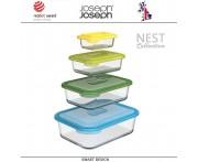 Контейнеры NEST 4 для запекания, подачи и хранения, 4 штуки, цвет опал, Joseph Joseph, Великобритания