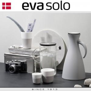 Кофейные стаканы EVA для эспрессо, 2 шт по 80 мл, бургунди, фарфор, силиконовый ободок Eva Solo, Дания, арт. 85042, фото 3