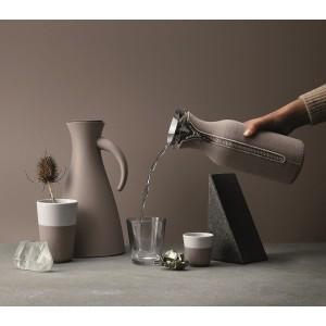Кофейные стаканы EVA для латте, 2 шт 360 мл, пурпурно-серый, фарфор, силиконовый ободок, Eva Solo, Дания, арт. 94681, фото 2