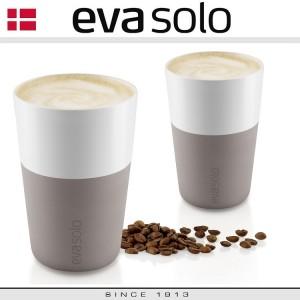 Кофейные стаканы EVA для латте, 2 шт 360 мл, пурпурно-серый, фарфор, силиконовый ободок, Eva Solo, Дания, арт. 94681, фото 3