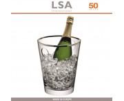 Ведро Savoy для льда и шампанского, 24.5 см, стекло ручной выдувки, ободок платина, LSA International
