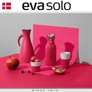 Кофейные стаканы EVA для латте, 2 шт 360 мл, розовый, фарфор, силиконовый ободок, Eva Solo, Дания, арт. 96911, фото 2