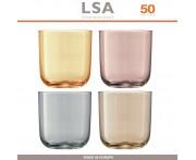 Набор бокалов Polka для воды, сока, ручная работа, 4 шт по 420 мл, цвет металлик, LSA